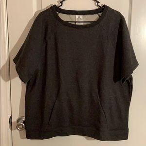 UNDER ARMOUR gray short sleeve sweatshirt size XL